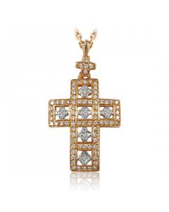 Золотой кулон с бриллиантами «На счастье»
