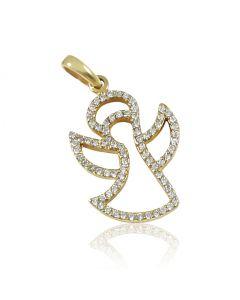 Золотой кулон c фианитами «Angel»