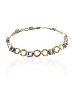 Золотий браслет з діамантами «Endless love»
