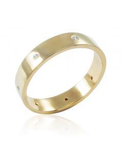 Золотое обручальное кольцо «Совет да любовь»