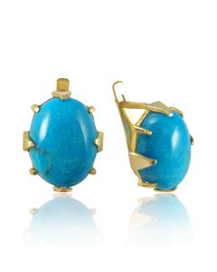 Золоті сережки з бірюзою «Беатріс»