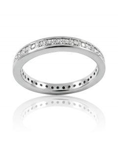"""Золотое обручальное кольцо с бриллиантами """"Счастливый путь"""""""