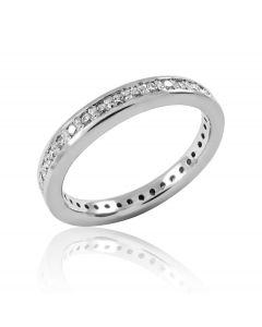 Золотое обручальное кольцо «Счастливый путь»