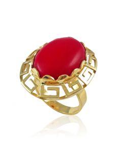 Золотое кольцо с кораллом «Арина»