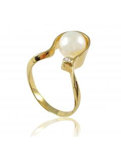 Золота каблучка з перлиною «Боніта»