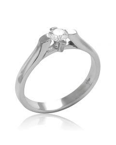Золотое кольцо с фианитом «Флоренция»