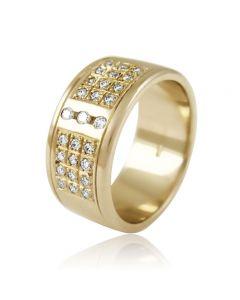 """Золотое обручальное кольцо с бриллиантами """"Достаток"""""""