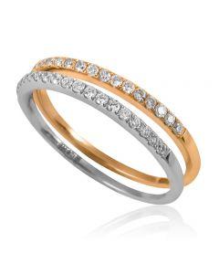 """Золотое кольцо """"Притяжение"""""""
