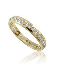 Обручальное кольцо с цирконием «Вечность»