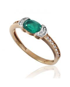 Золотое кольцо с ониксом «Хелен»