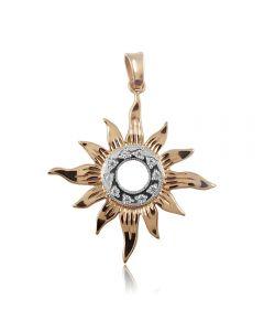 Золотий кулон з цирконієм «Світло сонця»