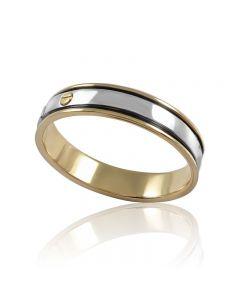 Золота обручка без каменів «Baron»