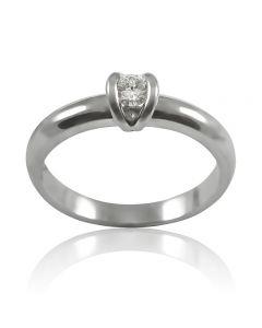 Золотое кольцо с бриллиантом 0.15 ct «Сусанна»