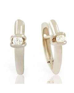 Золотые серьги с бриллиантами «Сусанна»