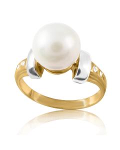 Золота каблучка з перлами «Аліканте»