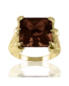 Золотое кольцо с раухтопазом «Dragon»