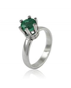 Кільце зі смарагдом і діамантами «Царська корона»