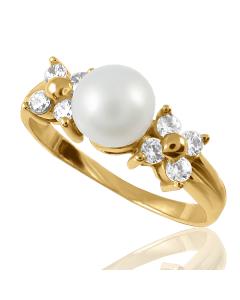 Золотое кольцо с жемчугом «Виринея»
