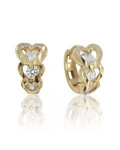 Золотые сережки с фианитом «Любимой»