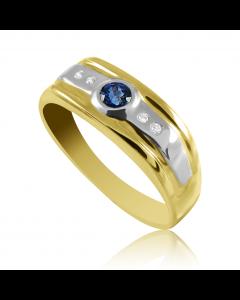 Золотой перстень с сапфиром «Люсьен»