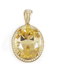 Золотой кулон с топазом «Империя»