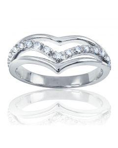 Золоте кільце «Половинка серця»