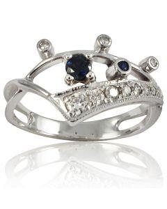 Золотое кольцо с сапфиром «Артемия»