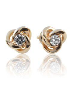 """Золотые серьги с бриллиантами """"Волшебство любви"""""""