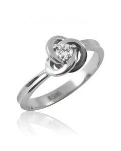 Золоте кільце з діамантом 0,10 Ct «Чари любові»