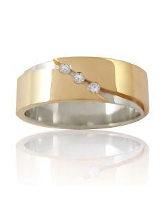Золота обручка з діамантами «Perfect Love»