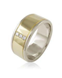 """Золотое обручальное кольцо с бриллиантами """"Forever&Ever I"""""""