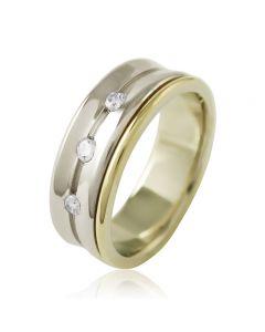 """Золотое обручальное кольцо с цирконами """"True Love II"""""""