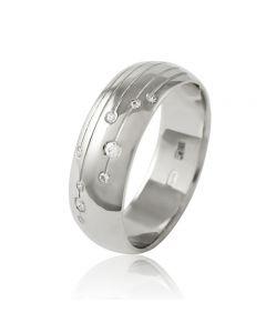 """Золотое обручальное кольцо с цирконами """"Angel love II"""""""