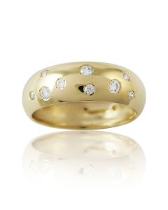 """Золотое обручальное кольцо с цирконами """"Land of Love II"""""""