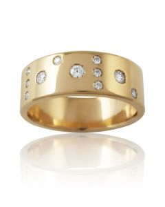 """Золотое обручальное кольцо с бриллиантами """"Meine Liebe I"""""""