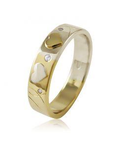 """Золотое обручальное кольцо с бриллиантом """"Love Story I"""""""