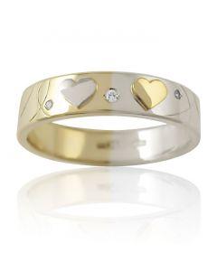 Золотое обручальное кольцо «Love Story II»