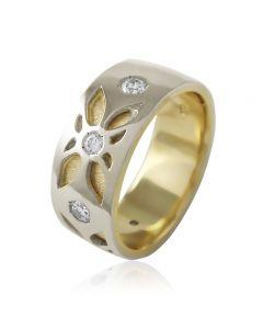 """Золотое обручальное кольцо с цирконами """"Amore mio II"""""""