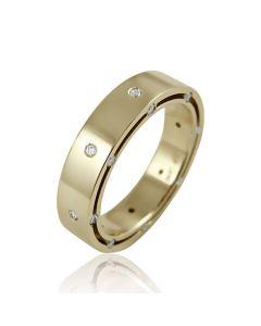 """Золотое обручальное кольцо с цирконами """"My shining Star"""""""