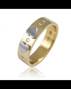 """Золотое обручальное кольцо с цирконами """"L'amour d'or II"""""""
