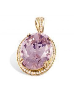 Золотой кулон с розовым топазом «Лирия»