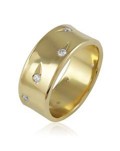 """Золотое обручальное кольцо с цирконами """"Love Galaxy II"""""""