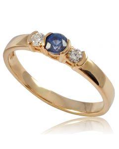 """Золотое кольцо с сапфиром """"Эстер"""""""