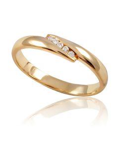 """Золотое кольцо с бриллиантами """"Содружество"""""""