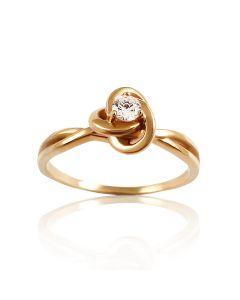Женское кольцо-роза на помолвку с цирконием «Изящный стиль»