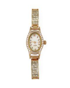 Золотий годинник «Світська левиця» на золотому браслеті