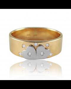 """Золотое обручальное кольцо с бриллиантами """"You&Me I"""""""