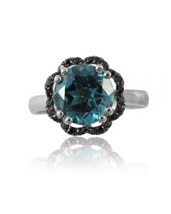 Женское кольцо «Вечерний цветок»