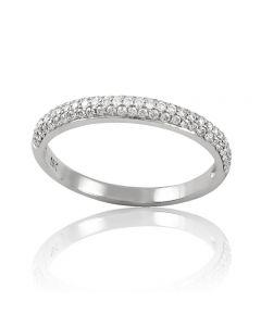 Золотое кольцо дорожка с бриллиантами