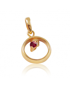 Золотой подвес с рубином «Бесконечность»